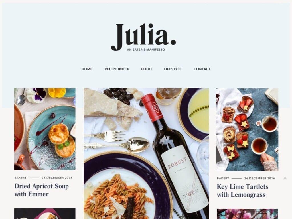 Free Food Blog WordPress Themes