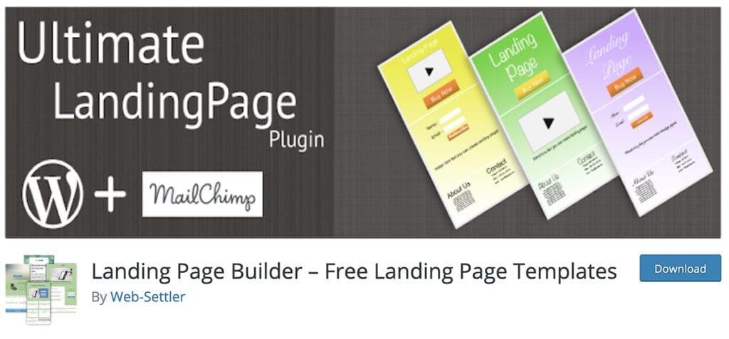 Landing Page Builder - Modèles de page de destination gratuits