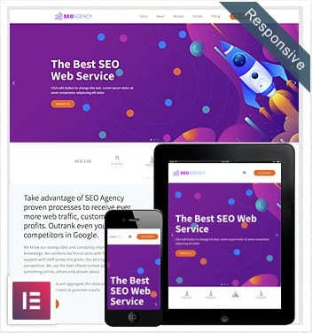 SEO Agency Elementor Template FREE