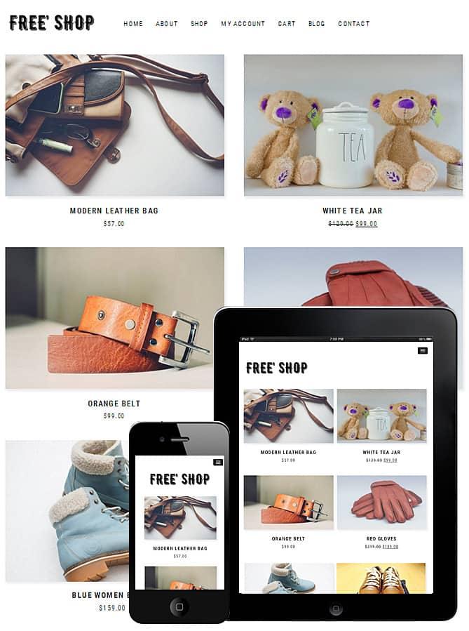 Free Shopping WooCommerce WordPress Theme - Dessign Themes