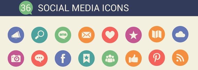 FREE – 36 Social Media Icons