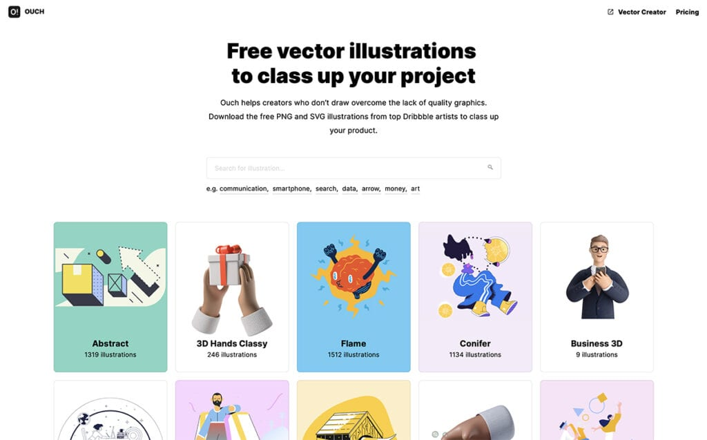 Free vector illustrations  to class up your project