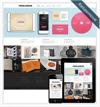 premium wordpress templates - freelancer-theme