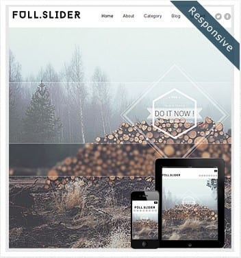 premium wordpress templates - full-slider-theme