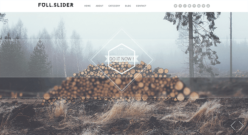 full slider portfolio themes