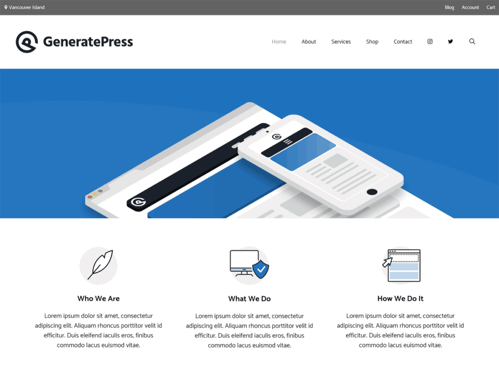 GeneratePress theme free lms