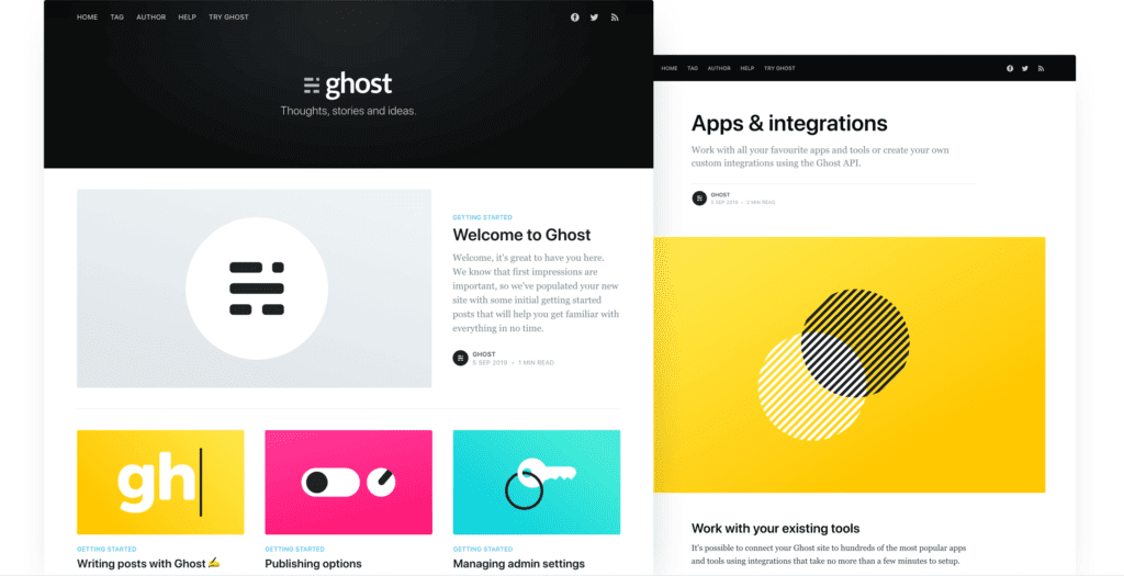14 Best Free Ghost Themes For (Publishers & Bloggers 2021)