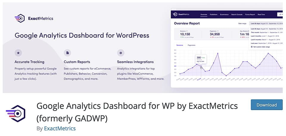 Google Analytics Dashboard for WP by ExactMetrics
