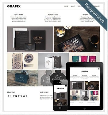 premium wordpress templates - grafix-theme