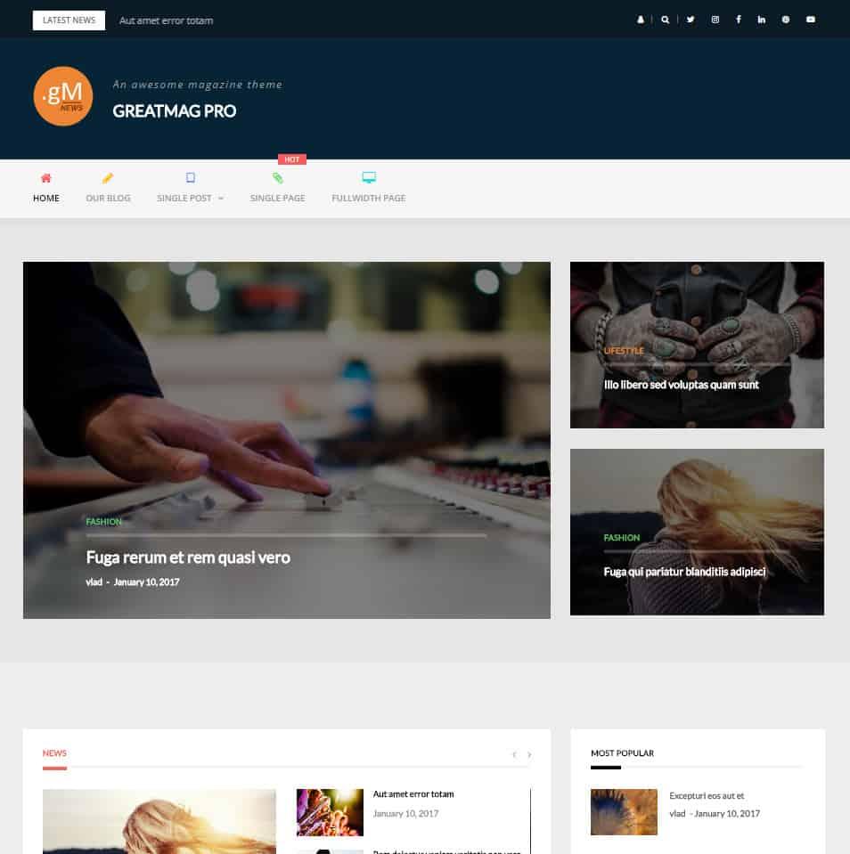 20+ Best Free Magazine WordPress Themes 2018 - Dessign Themes