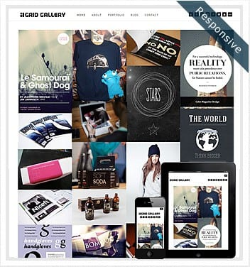 premium wordpress templates - grid-gallery-theme