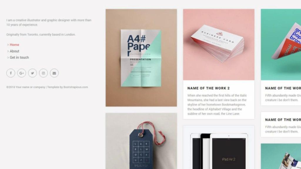portfolio créatif