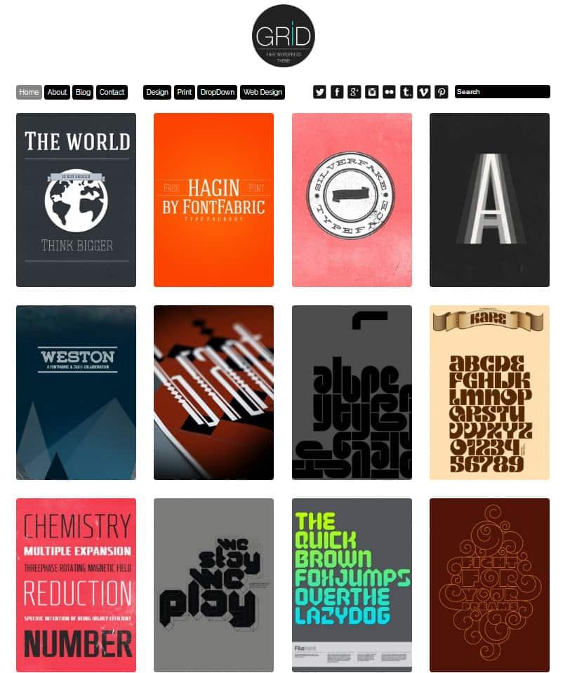30+ Best Free Grid, Masonry & Pinterest Style Themes (WordPress 2018)