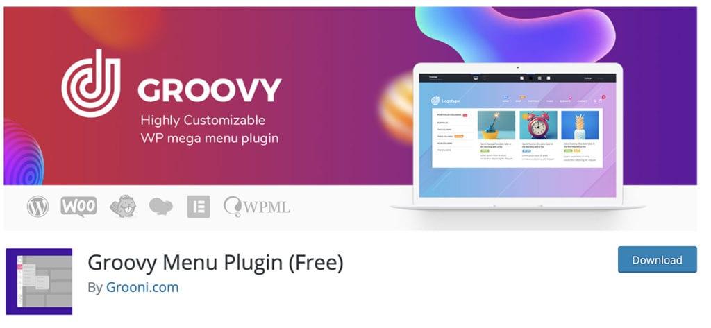 Groovy Menu Plugin (Free)