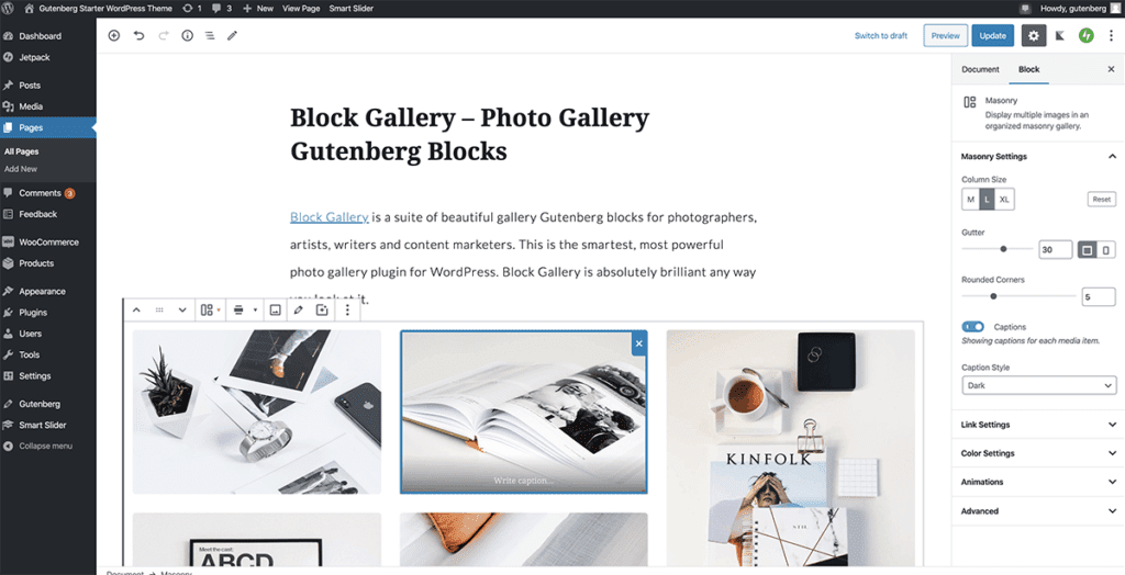 WordPress Gutenberg Portfolio 2020