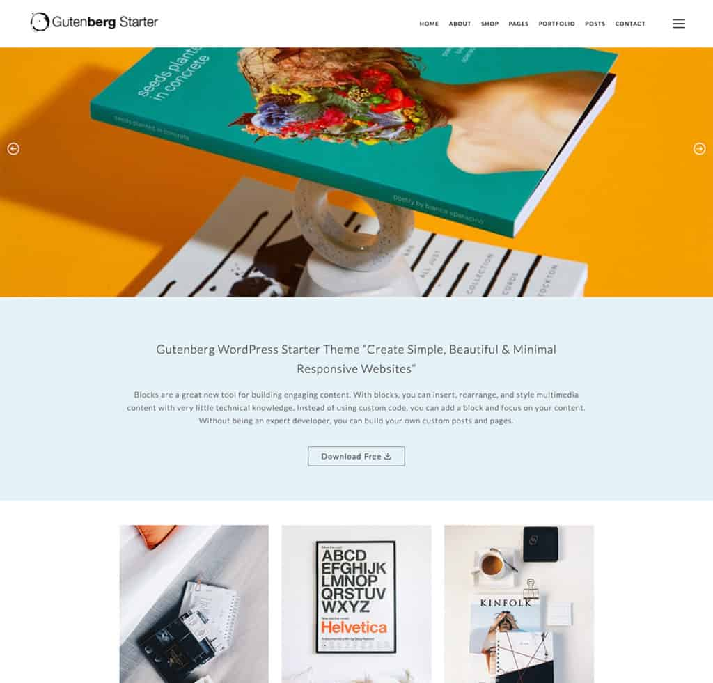 Gutenberg Free WordPress Theme 2020