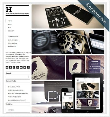premium wordpress templates - horizontal-grid-wordpress