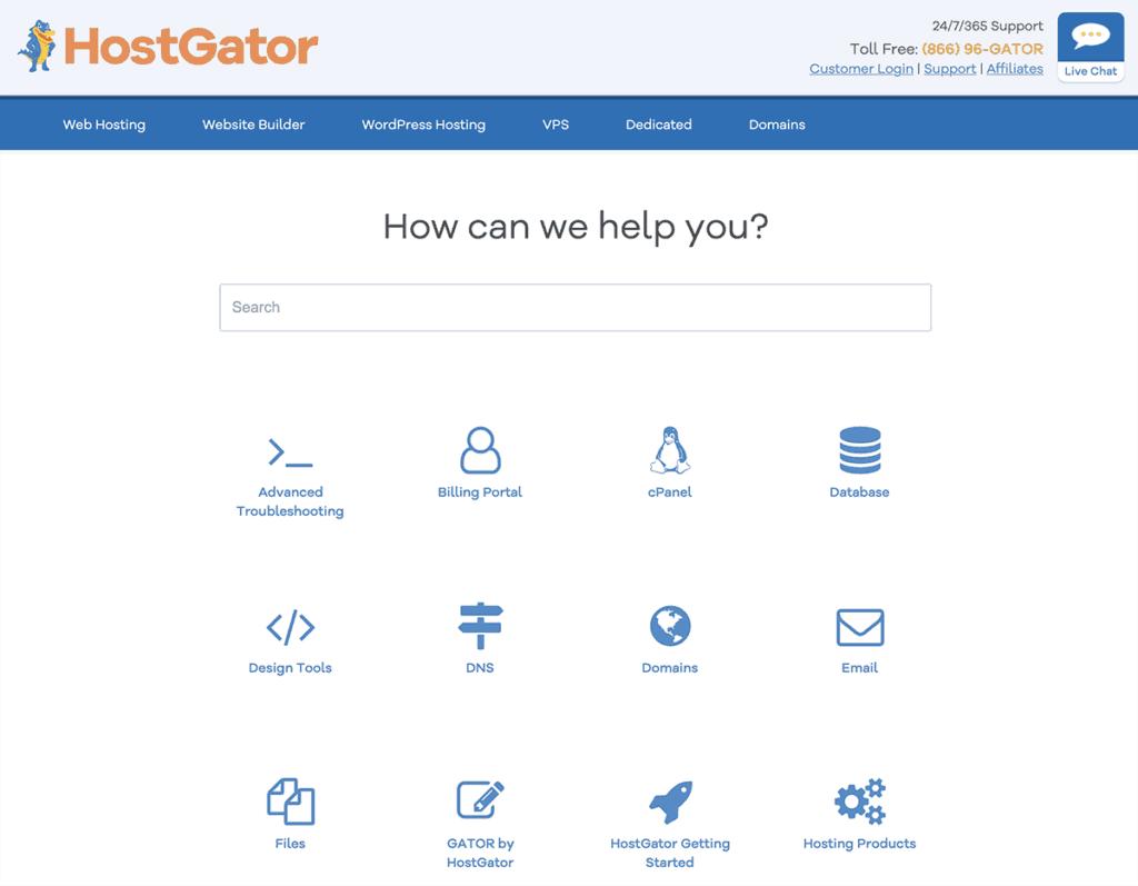 HostGator Knowledge Base 2020