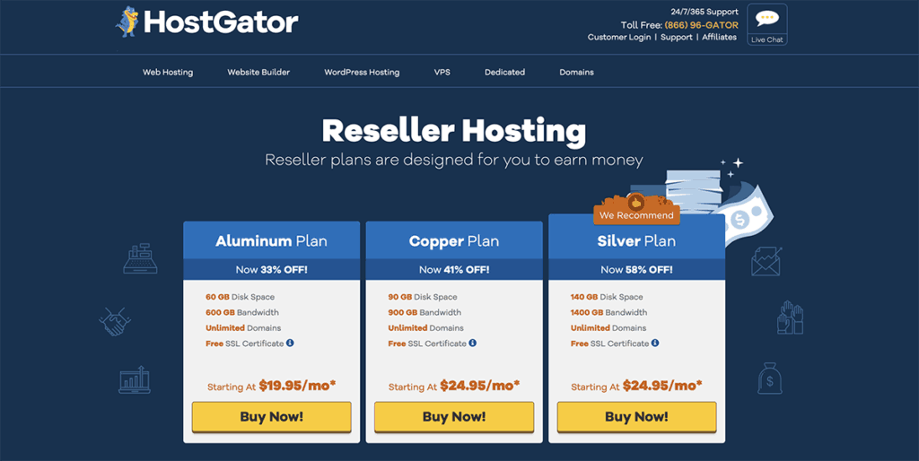 HostGator reseller hosting