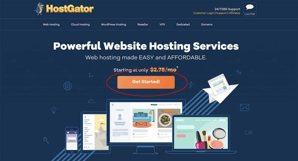 Hostgator month to month billing hosting