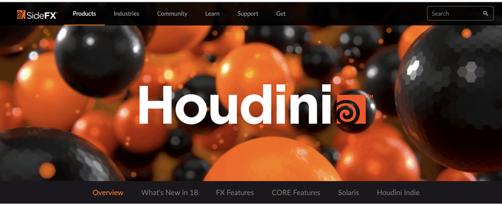 Houdini 3d software