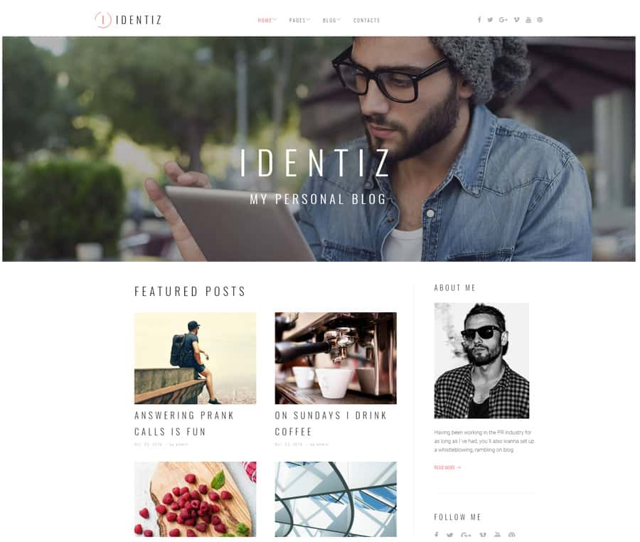 20+ Best Personal Blog WordPress Themes 2018