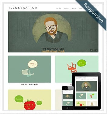 premium wordpress templates - illustration-wordpress-theme