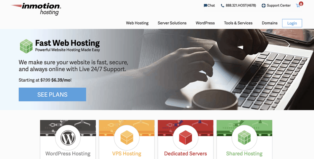 InMotion Cheap WordPress Hosting 2020