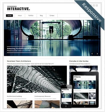 premium wordpress templates - interactive-responsive-theme