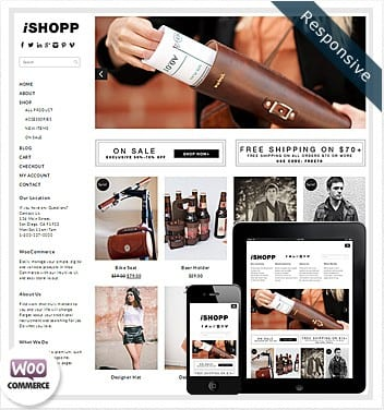 premium wordpress templates - ishopp-woocommerce-theme