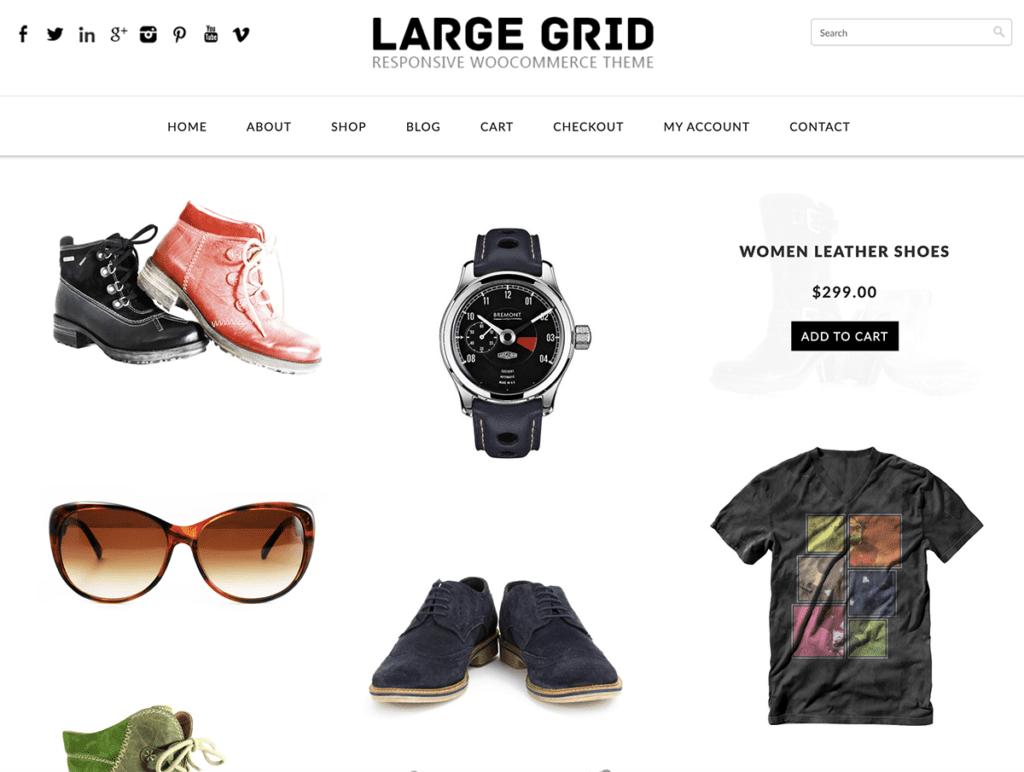 large grid woocommerce theme free