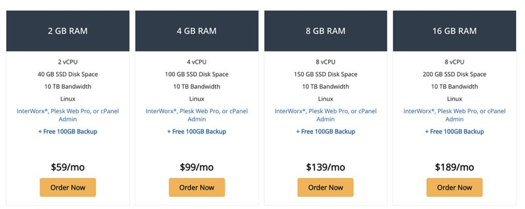 liquid web vps hosting prices