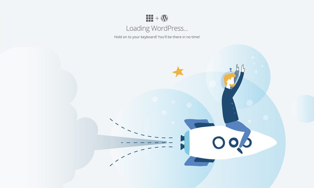 loading wordpress website screen