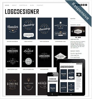 premium wordpress templates - logo-designer-theme