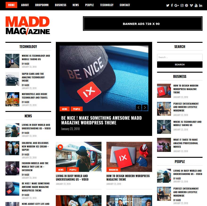 Free Sponsored Magazine WordPress Themes