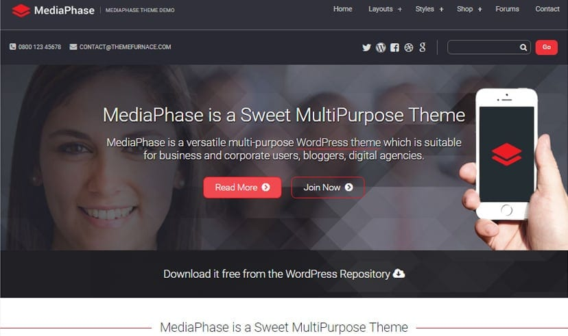 20 best free business wordpress themes 2018 media phace cheaphphosting Gallery