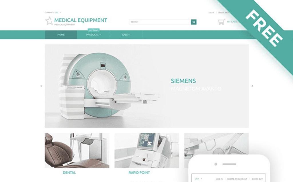 medical equipment Shopify theme free