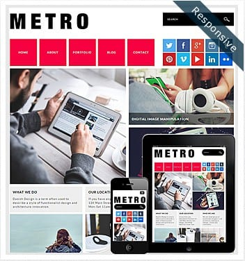 premium wordpress templates - metro-theme