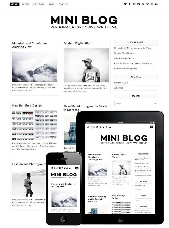Mini Blog WordPress Theme - Best WordPress Themes for Creatives ...