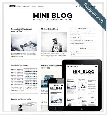 premium wordpress templates - mini-blog-wordpress