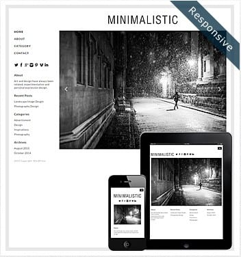 premium wordpress templates - minimalistic-theme