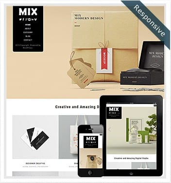 premium wordpress templates - mix-theme