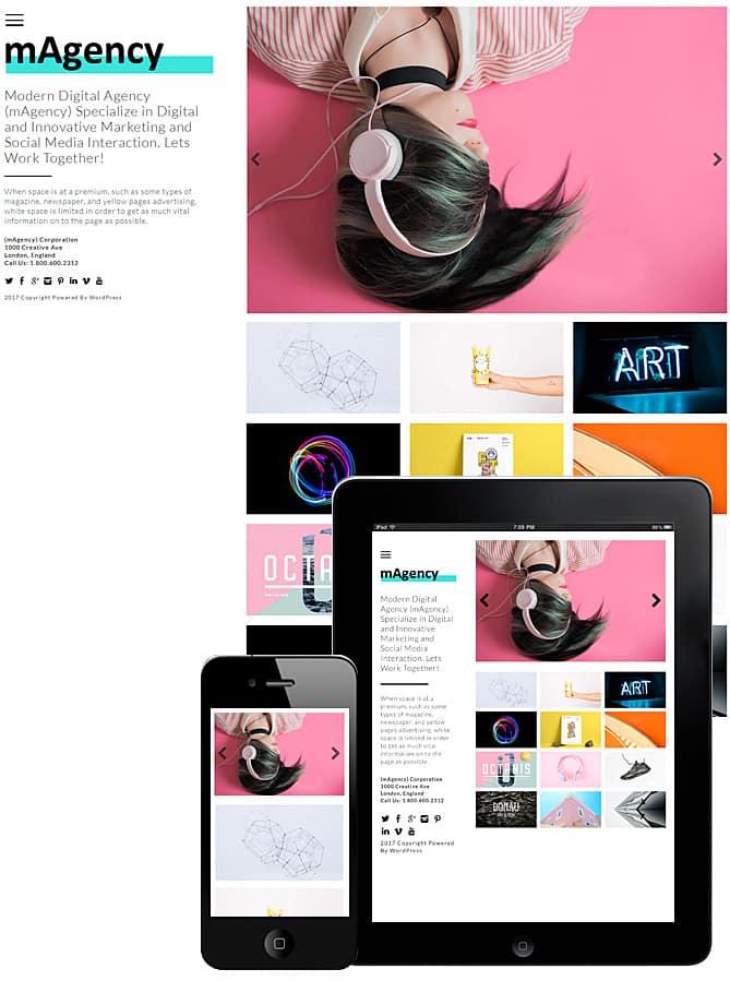modern agency theme