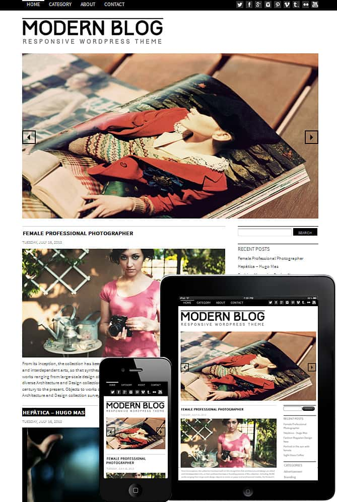 Modern Design Blog modern blog wordpress theme - best wordpress themes for creative