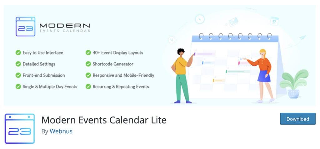 Modern Events Calendar Lite