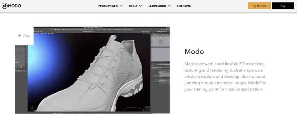MODO 3d Software