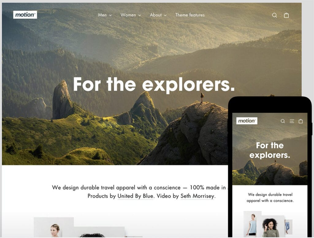 motion best Shopify theme
