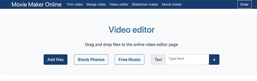 movie maker online video editor