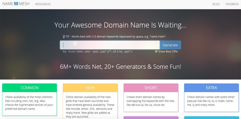 name mesh free domain generator