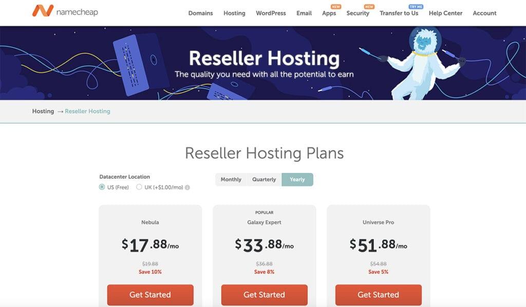 Namecheap reseller hosting
